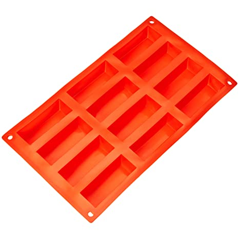 AmazonBasics - Molde de silicona para bizcochos rectangulares