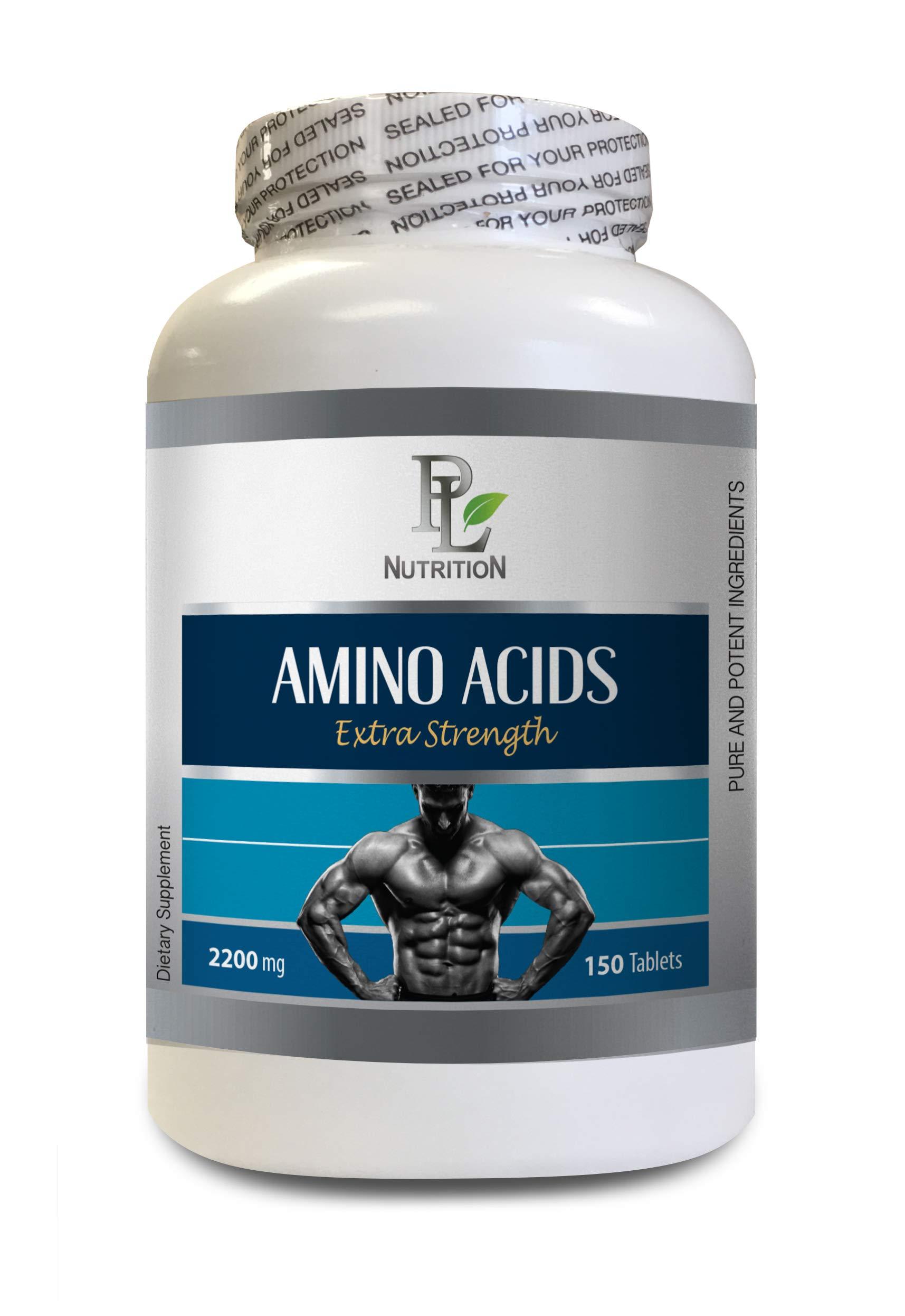 Bodybuilding Supplements Natural - Amino ACIDS 2200mg - Extra Strength - Amino acids Supplements Post Workout - 1 Bottle 150 Tablets