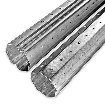 2 M Bis 33 M Achtkant Rolladenwellen Set SW 60 Verzinkt Stahlwelle