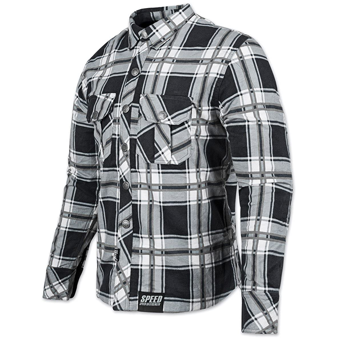 Speed and Strength Mens Rust and Redemption Armored Moto Shirts,Small,Black//Grey