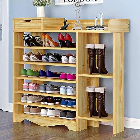 Zapatero de Madera con 6 Niveles Estantería Zapatero para hasta 20 Zapatos, 85 x 24 x 107 cm, Organizador de Almacenamiento de Zapatos Multiuso: Amazon.es: Hogar