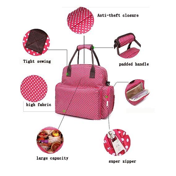 elear TM Impermeable Baby Pañales de bolso Tuerca Mochilas Bolsa para el carrito marrón café: Amazon.es: Bebé