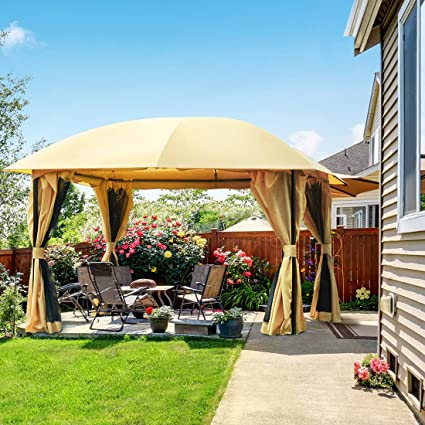 Quictent Tente En Métal Glossy Tonnelle 11 5 X11 5 Canopy