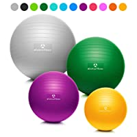 #DoYourFitness Gymnastikball inkl. Gratis Trainingsplan (PDF) & Luftpumpe | 55cm 65cm 75cm o. 85cm | 100% Berstsicher - 150kg Belastbarkeit - Robuster Sitzball, Bürostuhl, Fitnessball