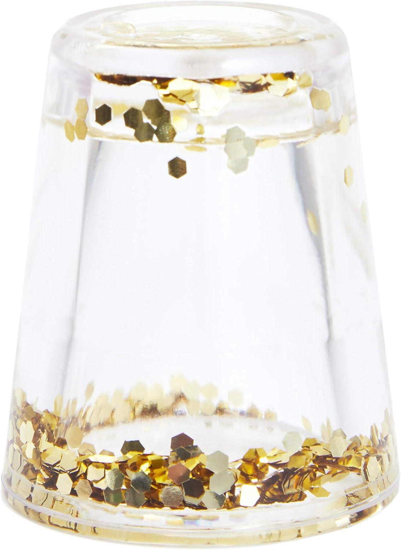 Juvale 8 unidades Vasos de chupito con confeti dorado