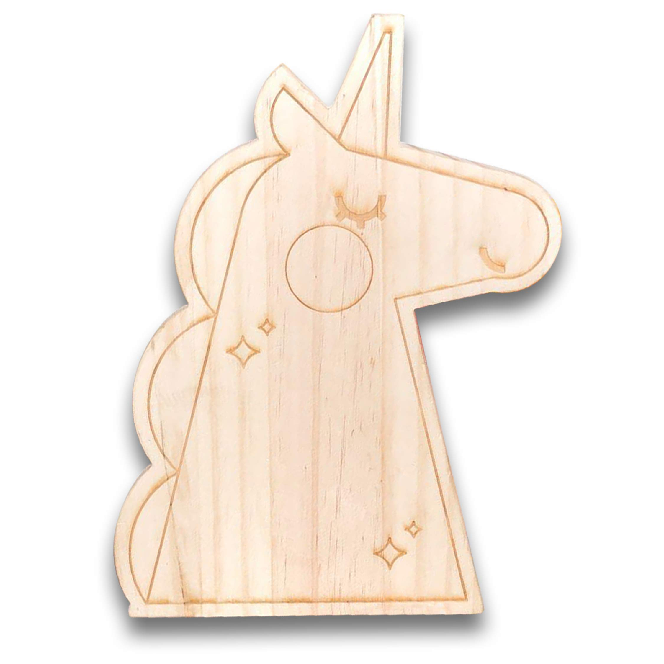 Pillow & Toast Unicorn Cake Wood Party Plate, Birthday Gift Magical Serving Trays for Parties Brunch and Breakfast, Unicorn Kids Gifts by Pillow & Toast (Image #1)