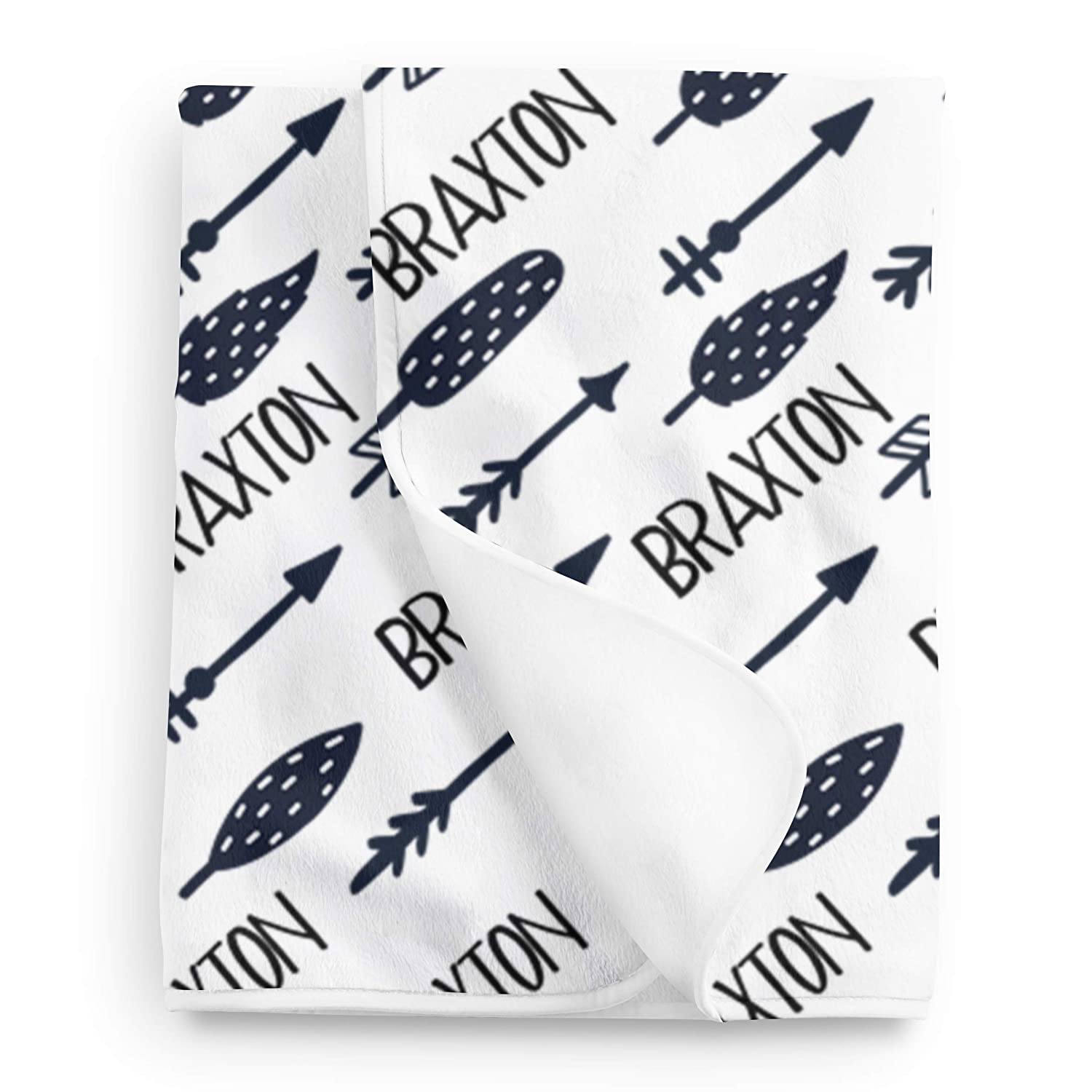 Arrow Baby Name Blanket Newborn Swaddle Personalized Baby Blanket Boy or Girl Hospital Take home Blanket Baby Shower Gift