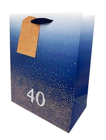40 bolsas de regalo de cumpleaños para hombre, tamaño grande ...