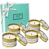 LA BELLEFÉE Coffret Bougies Parfumées à la Cire de Soja Naturelle Idée Cadeau pour Anniversaire Mariage et Décoration pour l'Intérieur