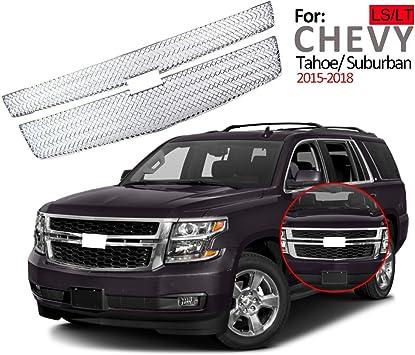 2015-2017 Chevrolet Tahoe Suburban LS LT Chrome Grille Insert Grill New Overlay