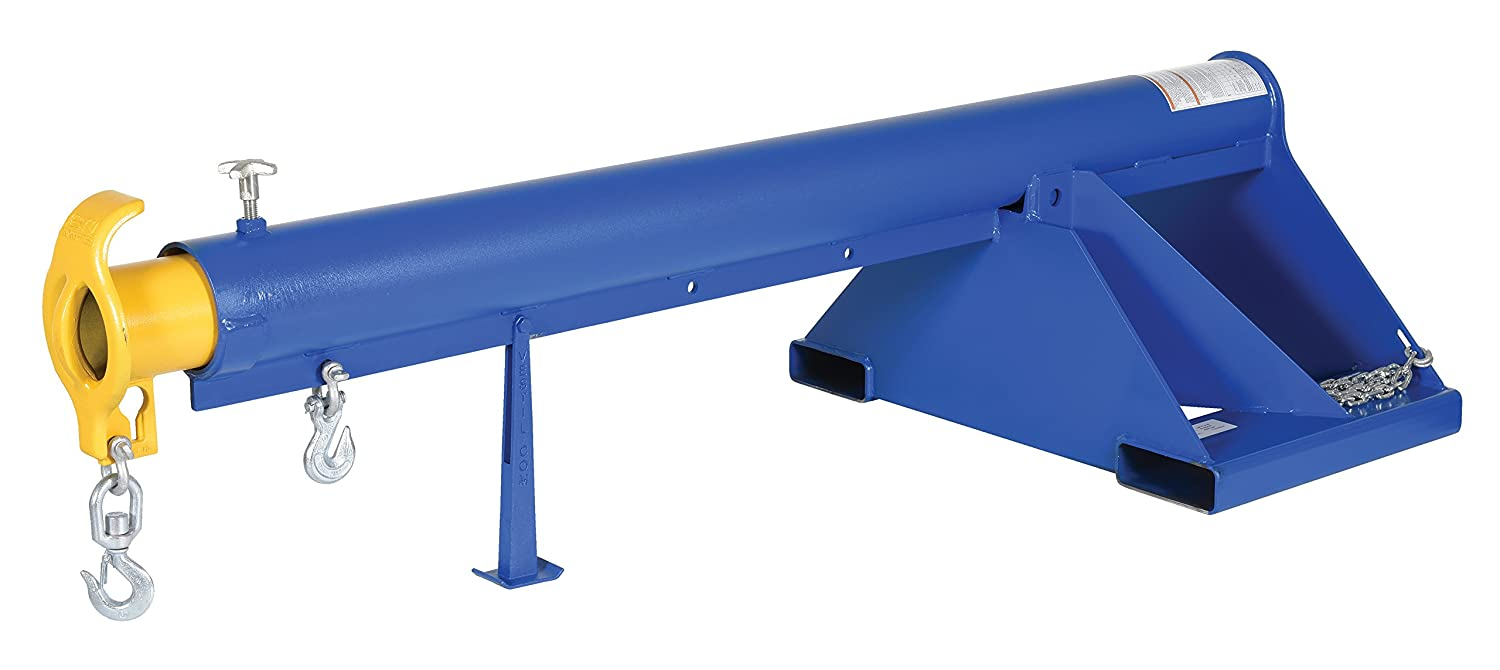Vestil LM-1T-3-24 Telescoping Lift Boom Overall Extended Length 3000 lbs Capacity Overall LxWxH Steel 151-1//4 32 x 86 x 25.875 in. in.