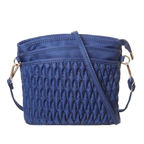 53c413f8d84c MINICAT Nylon Lightweight Medium Crossbody Bag Purse For Women(Blue ...