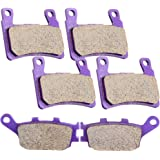 Scitoo Front and Rear Kevlar carbon Brake Pads For Honda CBR600F4 1999 2000 CBR600RR 2003 2004