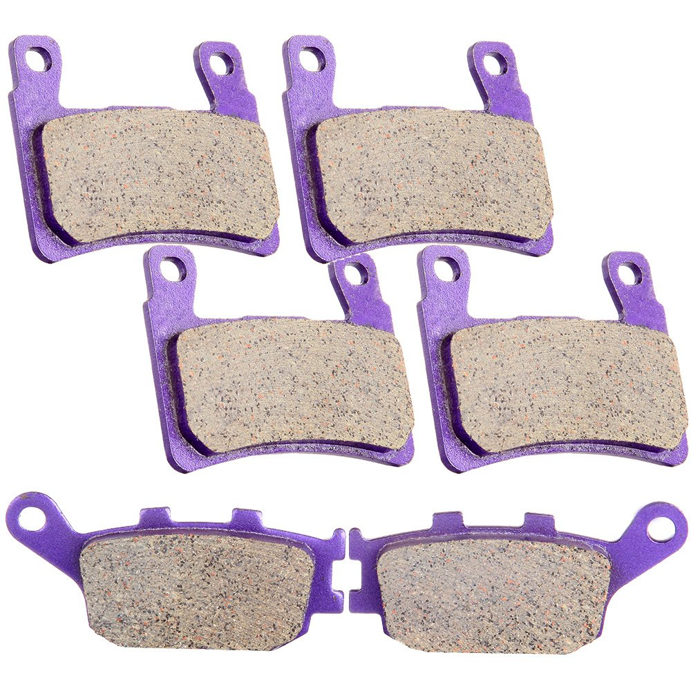 SCITOO Front and Rear Kevlar Carbon Brake Pads fit Honda CBR600F4 1999 2000 CBR600RR 2003 2004