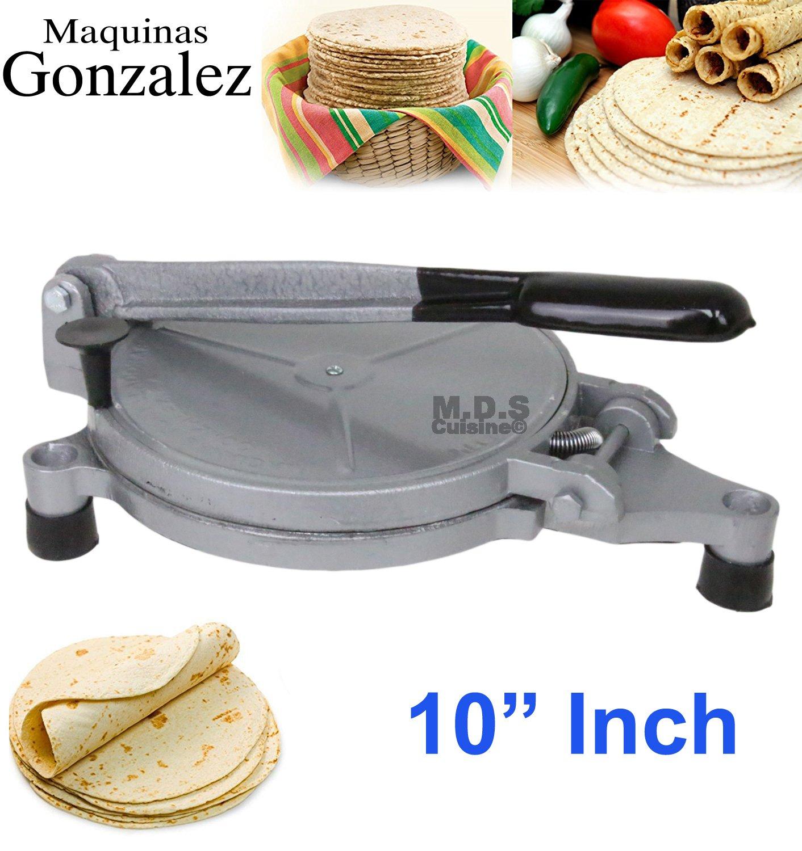 Tortilla Press 10'' Electric Maker Prensa Heater Harina Trigo Tortilladora Electrica Bunuelos Flour Empanadas Tacos Quesadillas Burritos Sopapillas by Kitchen & Restaurant Supplies