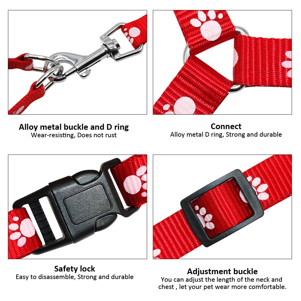 para Mascotas Ajustable Grivey Arn/és para Perros Rojo