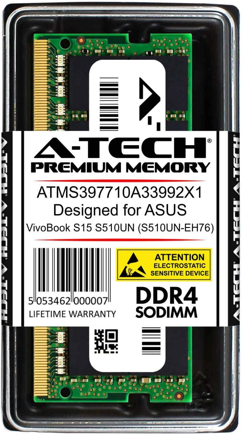 Compatible DDR4 2400MHz PC4-19200 Non-ECC SODIMM 1.2V Single Laptop /& Notebook Memory RAM Stick ATMS397710A33992X1 A-Tech 16GB Module for ASUS VivoBook S15 S510UN S510UN-EH76