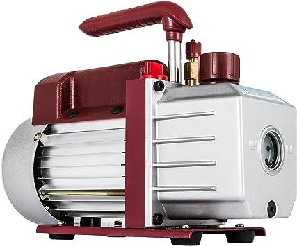 Bestauto 3 CFM 1//4 HP Vehicle Air Conditioner Vacuum Pump with 1.5 Gallon Vacuum Chamber