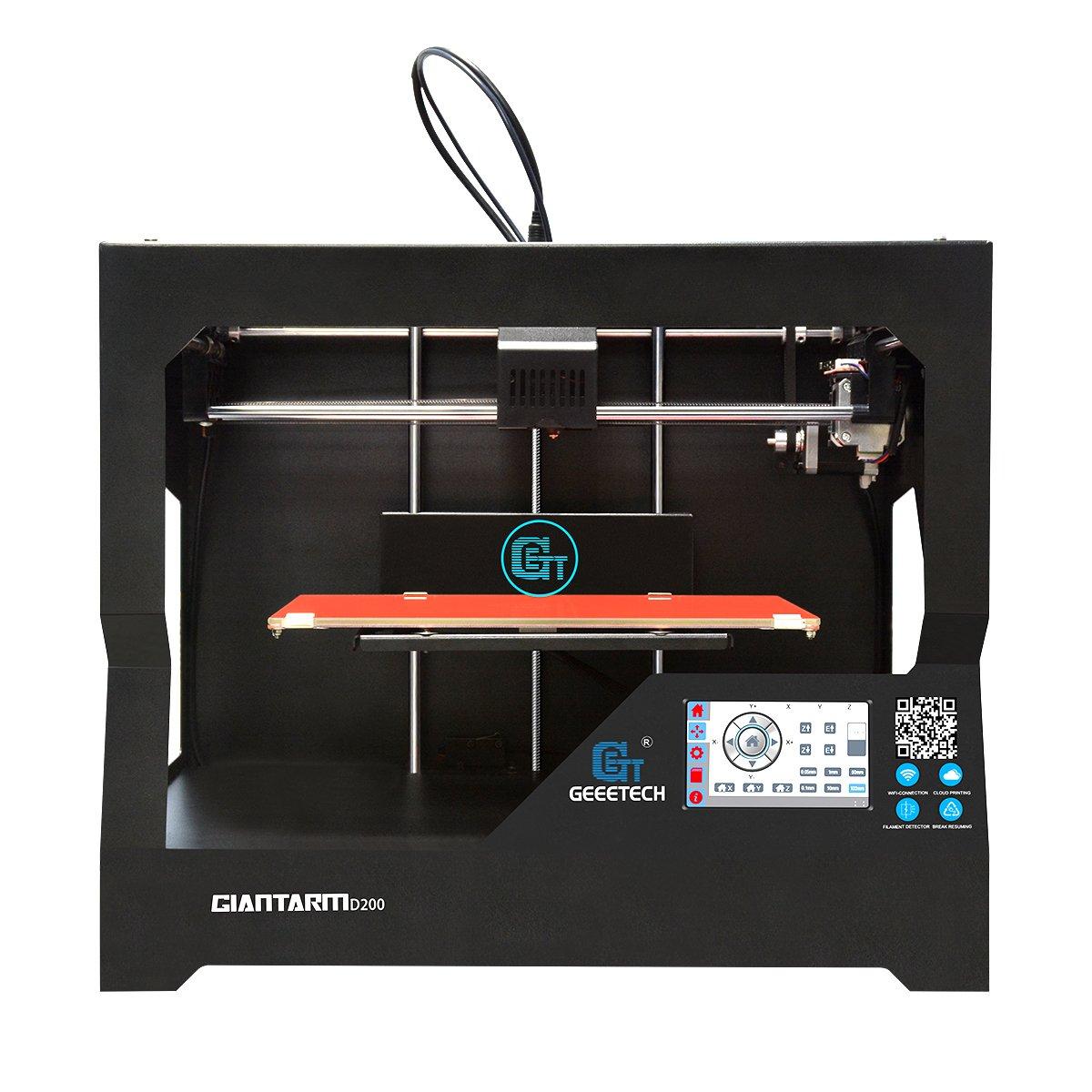 GIANTARM D200 Stampante 3D con un' area di stampa molto grande, recupero automatico da power failure, touch screen e chassis completamente in metallo. Geeetech