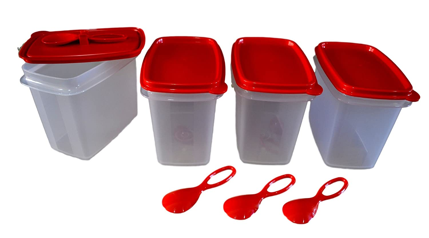 Amazon: Tupperware Within Reach Canister (570ml), Set Of 4: Kitchen &  Dining