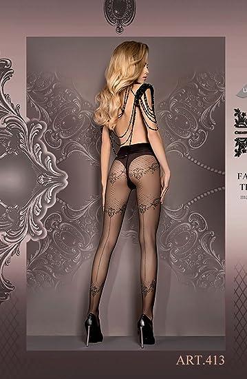 fee6ec97ff8ff Ballerina 413 Tights Nero (Black) (Large/X-Large): Amazon.co.uk: Clothing