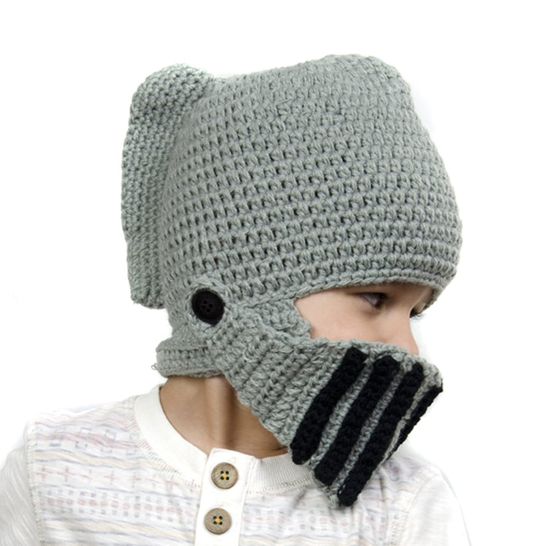 Kuyou Kinder Winter Strickmütze Warme Beanie Kids Skimaske Cap