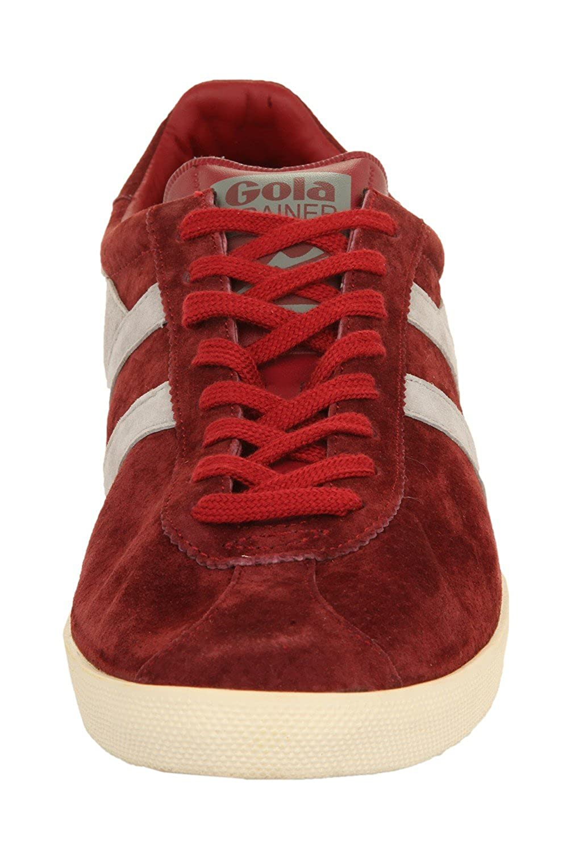 Gola Herren Sneakers TRAINER SUEDE Burgundy/Cool Grey CMA213, size Herren schuhe:45