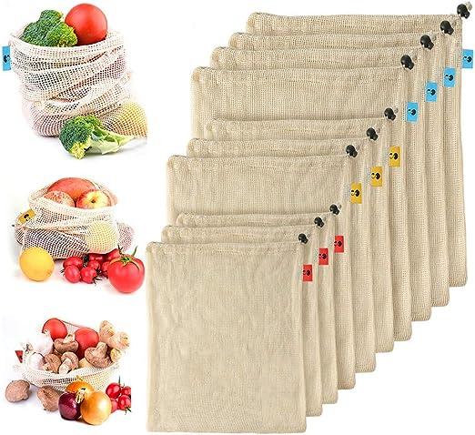 Juego de bolsas de malla reutilizables – IMPLEME 10 paquetes de ...