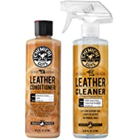 Chemical Guys SPI_109_16 Leather Cleaner and Leather Conditioner Kit for Use on Leather Apparel, Furniture, Car…