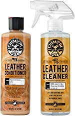 Chemical Guys Leather Cleaner and Conditioner Complete Leather Care Kit (16