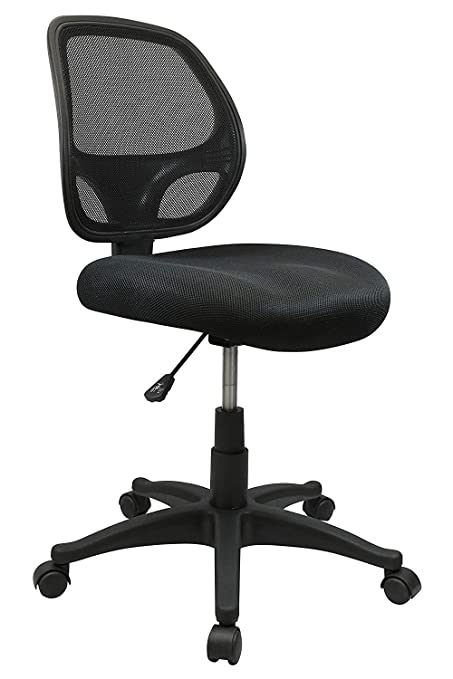 Groovy Nicer Furniture Mid Back Black Mesh Computer Chair Task Desk Chair Ergonomic Office Chair Without Arms Complete Home Design Collection Epsylindsey Bellcom