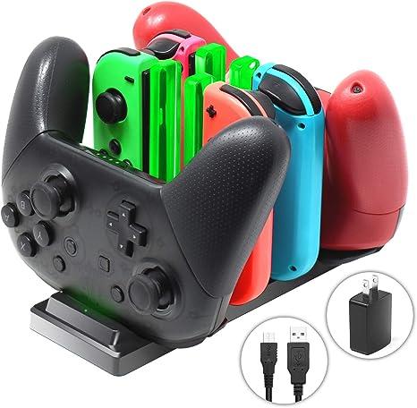 Amazon.com: Cargador controlador para Nintendo Switch, base ...