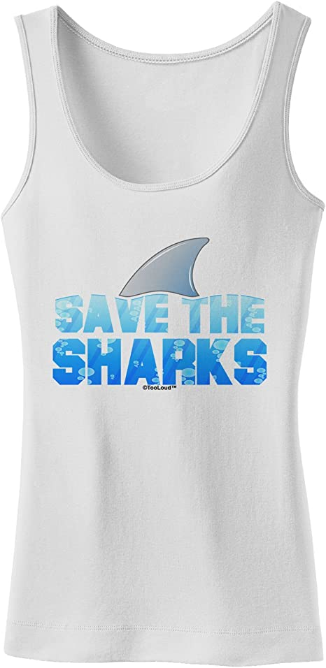 TooLoud Save The Sharks Fin Color Infant T-Shirt Dark