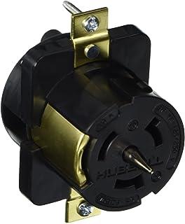 hubbell cs locking receptacle amp phase v pole  hubbell cs6369l locking receptacle 50 amp 125 250v 3 pole and 4