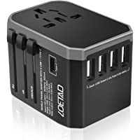 LOETAD Travel Adapter International Power Adapter Universal Travel Plug Adapter Worldwide Use 4 USB 1 Type C Total 5.6A…