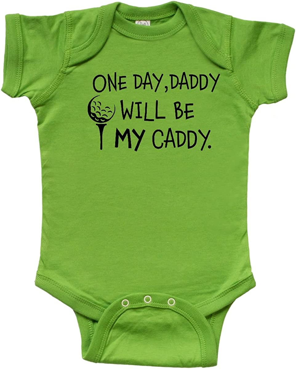 Kids Golfing Infant Creeper inktastic One Day Daddy Will be My Caddy