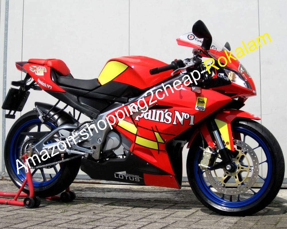 Carenado no.1 de España para Aprilia RS125 2006 2007 2008 2009 2010 2011 RS125 RS 125 ABS Rojo Amarillo Motocicleta (Moldeado Por Inyección): Amazon.es: Coche y moto