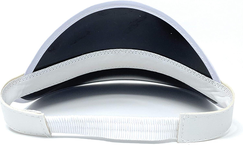 Neon Beach Hat 1 Plastic Visor Retro Tennis Colored Vinyl Sun Visor