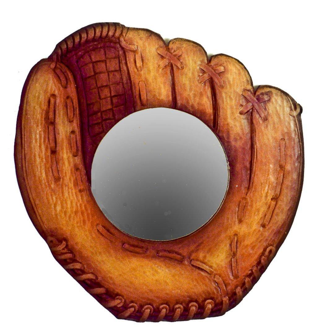 Baseball Glove Wall Mirror for Baseball Kids Decor Country Carver 656