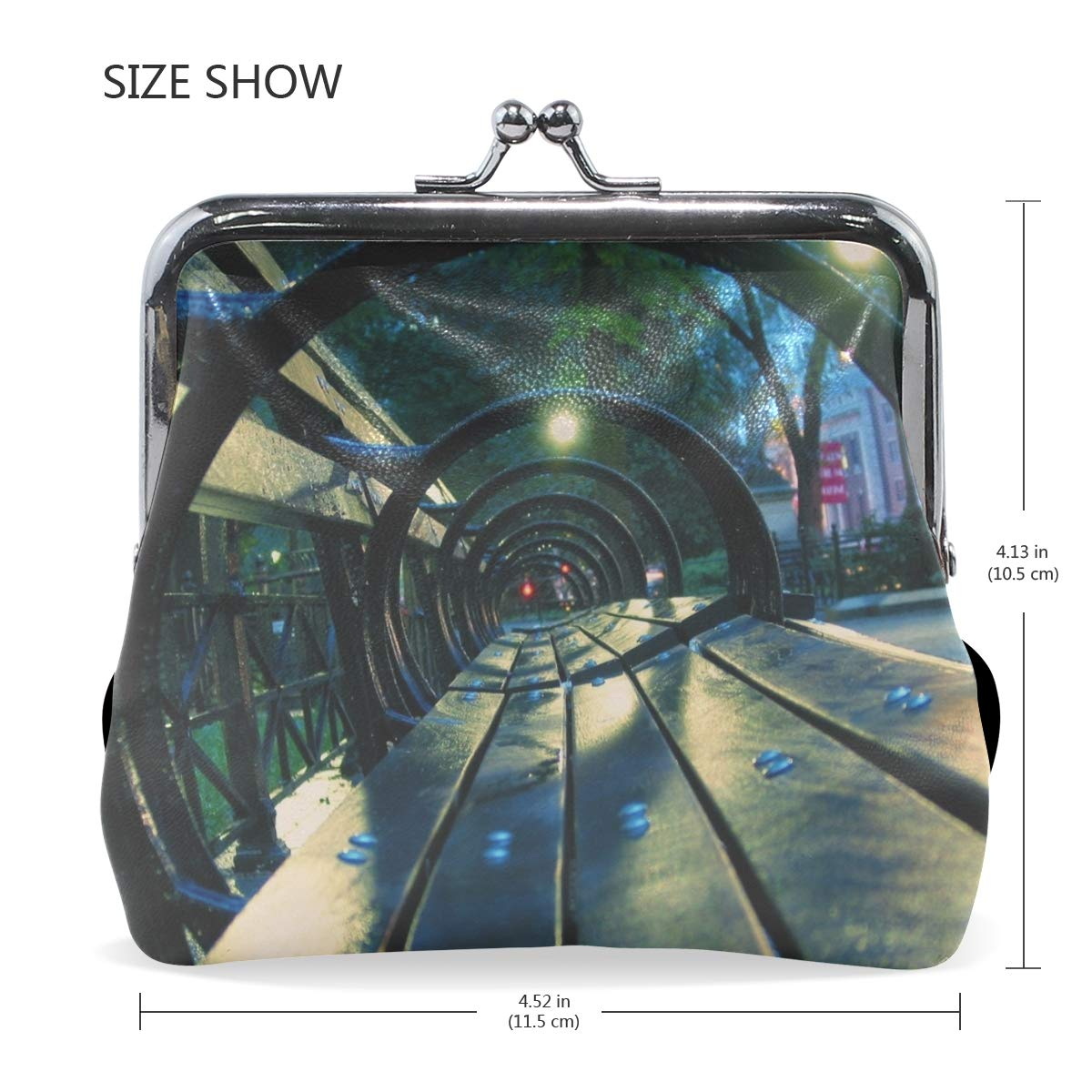 Amazon.com: Rh Studio Coin Purse Bench Night Park City Print ...