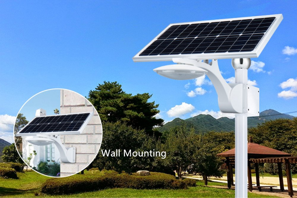 LED Solar Street Light, Super Bright 18W Outdoor Wireless Waterproof Solar Post Light Wall Lights, 2800lm Solar Spotlight for Home, Garden, Lawn, Road, Hallway, Patio(2 Pack)
