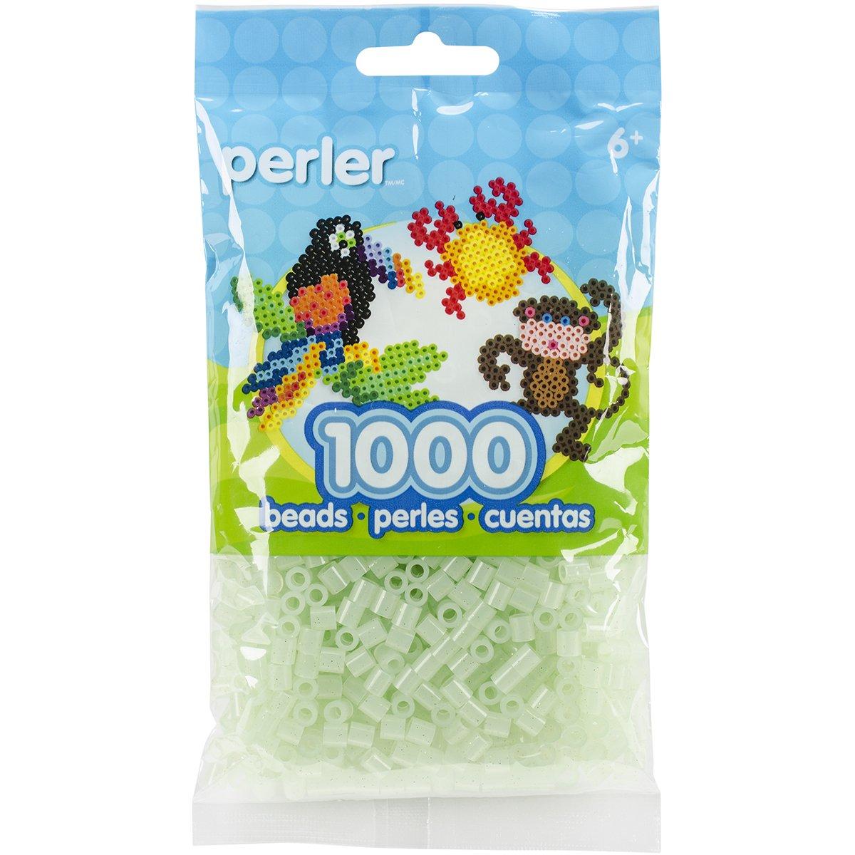 Canutillos Hama Beads 1000 Unidades Verde Claro Con Glitter