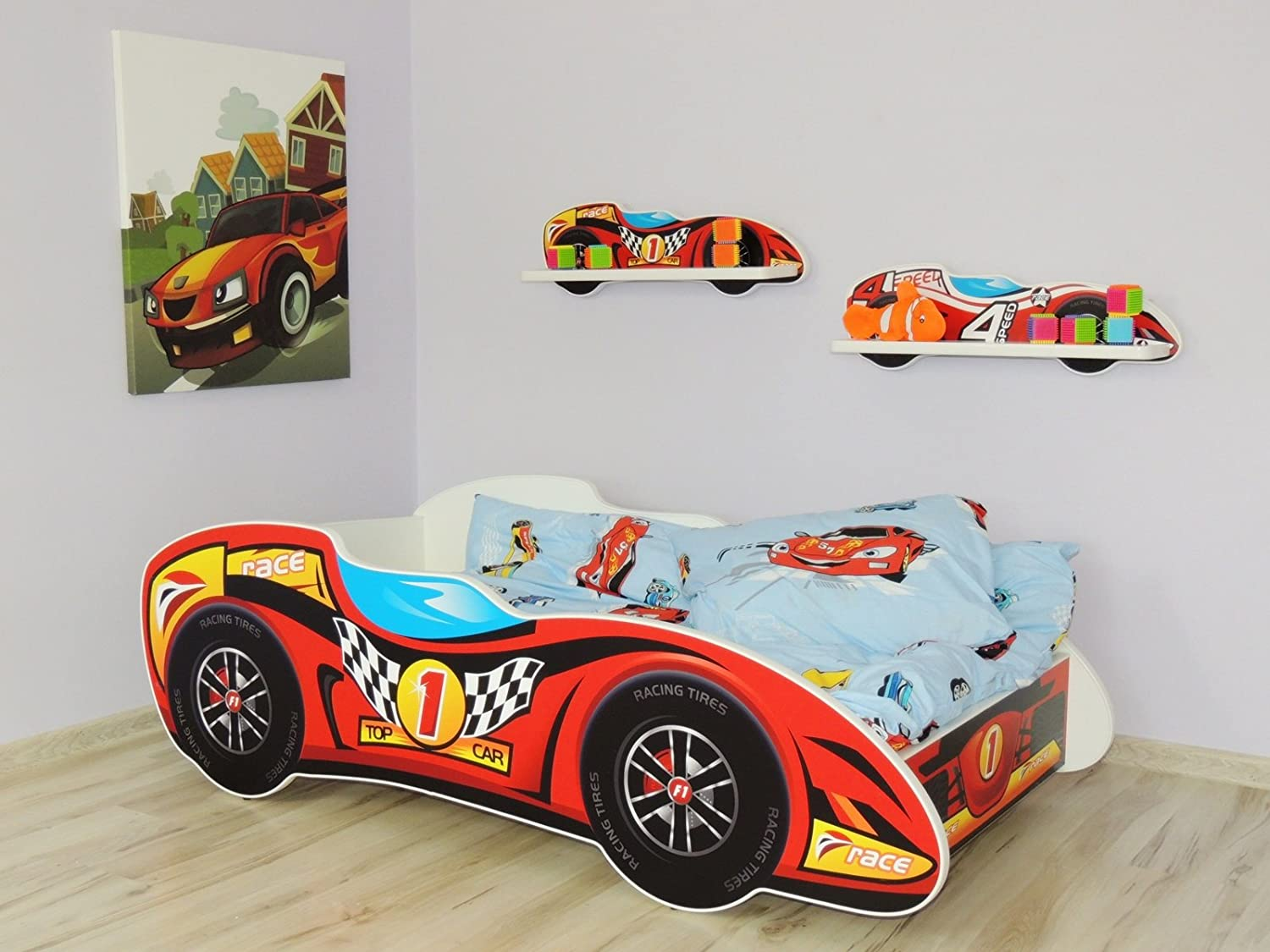chambre garon voiture chambre enfant lit voiture enfant. Black Bedroom Furniture Sets. Home Design Ideas