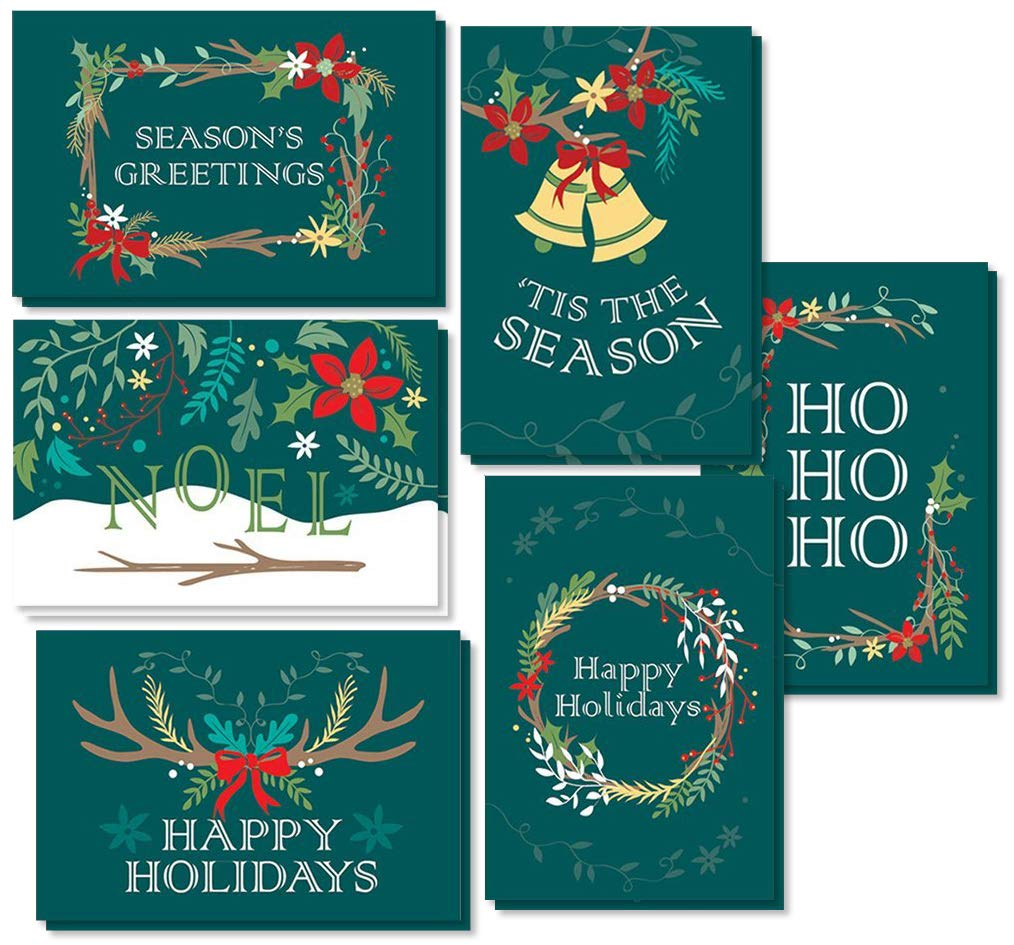 Amazon 48 pack merry christmas greeting cards bulk box set 48 pack merry christmas greeting cards bulk box set holiday xmas greeting cards with m4hsunfo