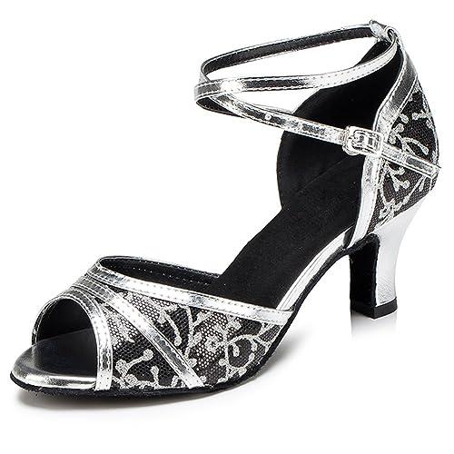 Misu, Scarpe da ballo donna Nero Nero e argento, argento, argento, Nero      bbaf5d