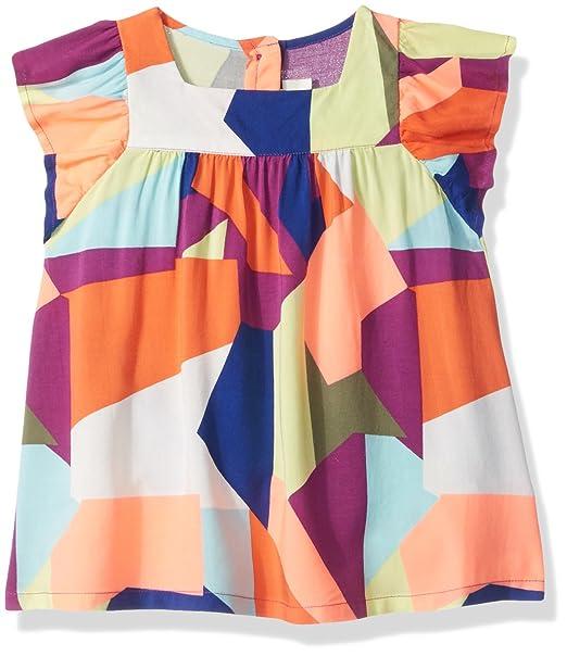 Amazon.com: Crazy 8 Baby Toddler Girls\' WVN Multi Geo Flutter Sleeve ...