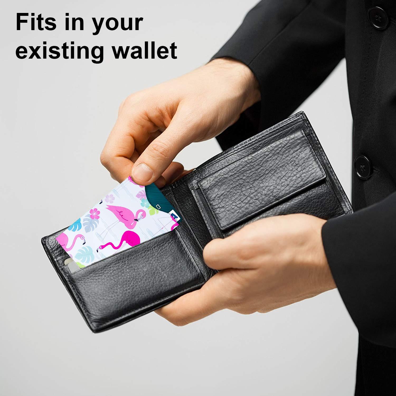 Arty RFID Blocking Sleeves 8 RFID Sleeves, 4 Unique Designs Designer Credit Card Protector Anti-Theft Credit Card Holder Waterproof RFID Card Protector by Okami