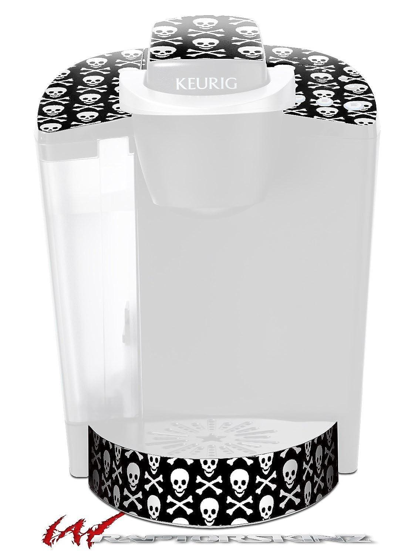 髑髏と骨パターン – デカールスタイルビニールスキンFits Keurig k40 Eliteコーヒーメーカー( Keurig Not Included )   B017AKAR8M