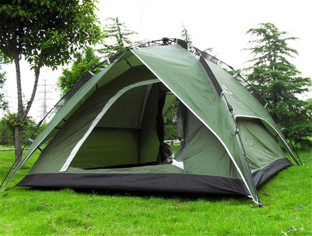 HONEYY Outdoor Regen Zelt 3-4 Personen vollautomatische Zelt Camping Doppelzimmer Doppelzimmer Türen Tourismus atmungsaktiv Zwei bis DREI Zelte 200  200  120 cm