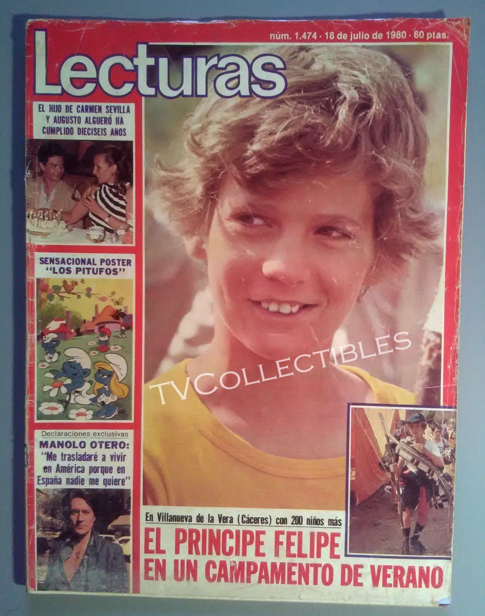Amazon Magazine Lecturas July 18 1980 Prince Felipe Lolo